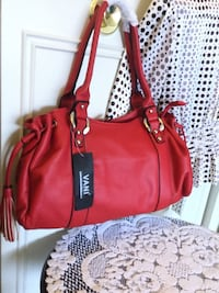 Cherry Red Ladys handbag with tassel decor / New VANI bag with price tags  lots of room inside Alexandria, 22311