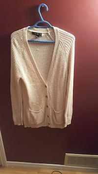 beige knitted cardigan Kingston, K7K 5Z5