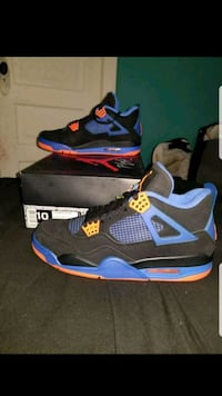 Jordan 4s blue black orange size 10 Justice, 60458