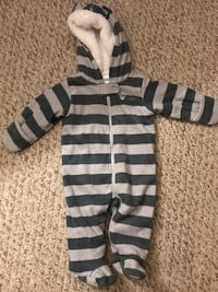 black and gray striped zip-up hoodie Fairfax, 22032