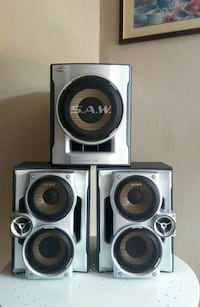 3 Piece Sony Speaker System Queens