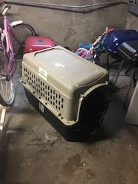 Large dog crate, for bed or travel