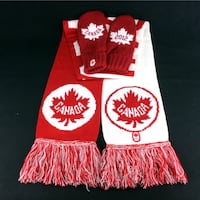 Team Canada Scarf & Mitten Set 2012 Canadian Winter Olympics Hudson's Bay Sz S/M Port Colborne