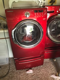 red Samsung front-load clothes washer Woodbridge, 22193