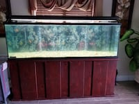 brown wooden framed fish tank Covina, 91722