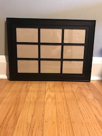 "Black collage picture frame, 9 4x6"" openings"