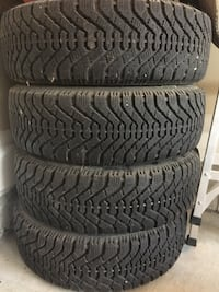 GOODYEAR winter tires P185/65R14 with RIMS 559 km