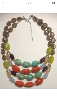 Beaded black and green necklace firm on price  Milwaukee, 53207