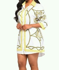 women's yellow and white floral dress Montreal, H3G