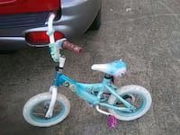 toddler's blue and white bicycle Little Rock, 72204