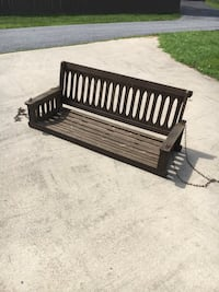 black and white wooden bench Laurel, 20707