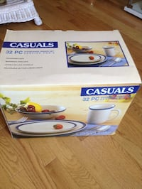 Casuals 32 pcs. Dinnerware Set (blue and white) Germantown, 20874
