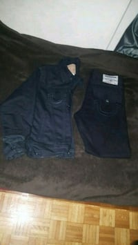 True religion jeans jacket and jeans set  Toronto, M3A 2T1