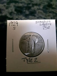 1929 S Liberty type 2 25 cents USA Sherwood Park, T8H 2G3