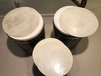 3 vintage/old african drums. Derwood, 20855
