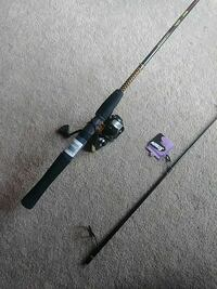black and gray fishing rod Smyrna, 30080