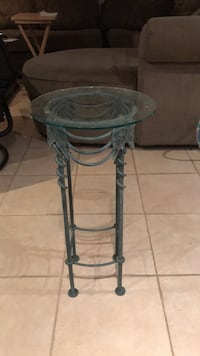 Rod iron glass table