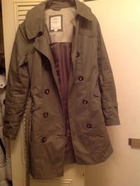 Ladies Olive trench coat European size 40 Vancouver, V6M 2G2