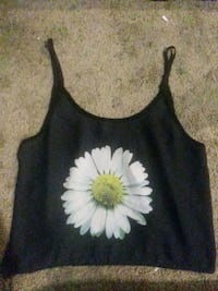 black and white floral tank top Seattle, 98106