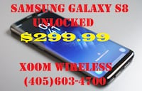 Samsung Galaxy s8 (network unlocked) and ready to activate wit GSM net Oklahoma City