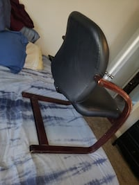 **Comfortable Black Leather and Wooden Arm Chair!!** Las Vegas