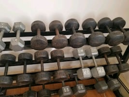 DUMBBELLS & RACK& BENCH
