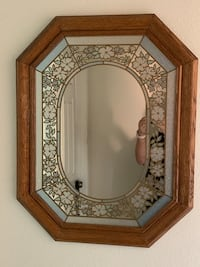 brown wooden framed wall mirror Rancho Cucamonga, 91701