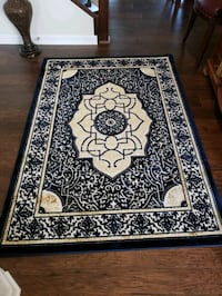 Navy and gold color, new,4 'by6' area rug