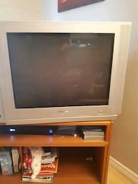 gray CRT television with TV stand Edmonton, T5P 2S1