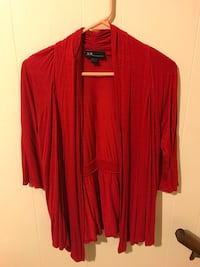 Women's Size Small Red Cardigan Bay City