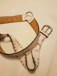 Real Leather white belt with Swarovski  Toronto, M2M 4B9