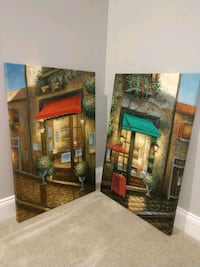 """24"""" X 36"""" canvas paintings.  $40 for the set Haymarket, 20169"""