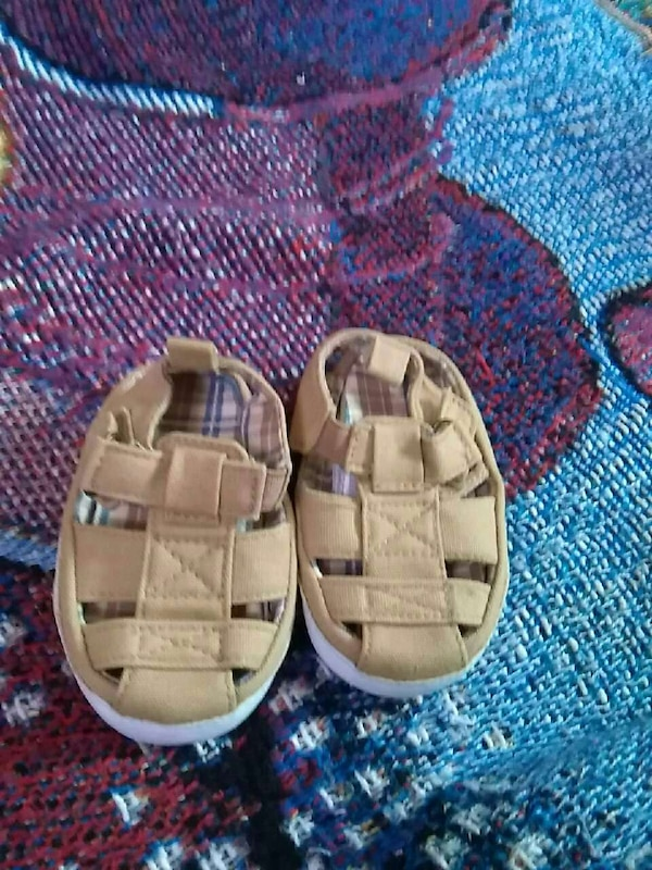 pair of toddler's brown sandals