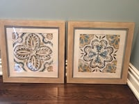 two brown wooden framed painting of flowers Wyckoff, 07481