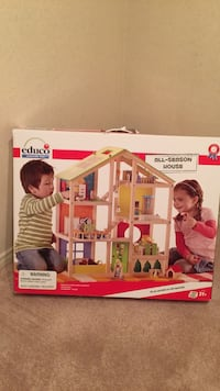 Educo wooden 3-storey doll house from mastermind store. Never opened. Quick sale please.  Markham