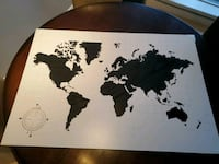 World map white board Surrey, V3T 0A8