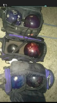 three black bags with bowling balls screenshot Bastrop, 71220