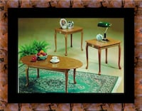 3pc coffee table oak College Park, 20741
