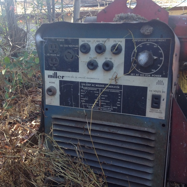 Miller Welder/Generator This welder is stick and is great for job sites and  has never let me down has plenty of power was 4,500 new in the 90's needs