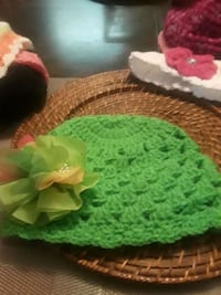 green and white knitted textile 58 km