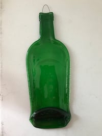 Handmade green glass bottle cheese holder Alexandria, 22315