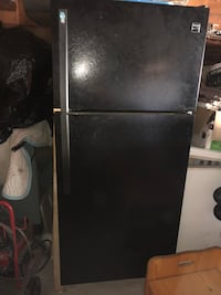 Black Kenmore refrigerator. Garage kept. Needs to be cleaned but works like brand new was only used for garage fridge for short amount of time. Must pick up Burbank, 60459