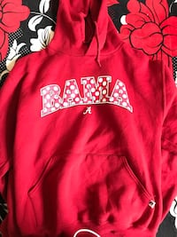 red and white polka-dot Alabama Crimson Tides pullover hoodie