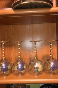 Hand-painted wine glasses Lawrenceville, 30043