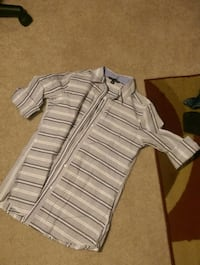 gray and white stripe polo shirt Centreville, 20121
