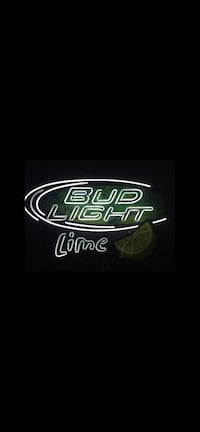 Bud light neon sign. Size of a 40inch tv