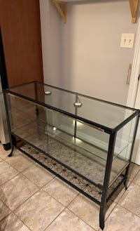 Glass Decor Display Case With lights