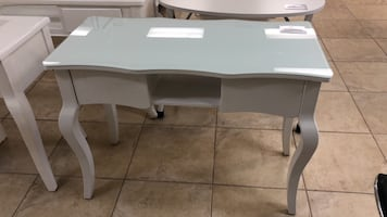 Brand new White wooden single manicure Nail table desk