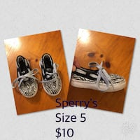 Toddler Sperry's size 5 Collinsville, 74021