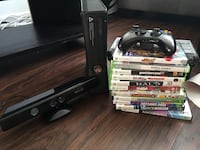 Xbox 360 with kinect, controller and game cases Los Angeles, 90018